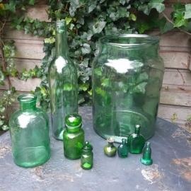Helder groen glas set € 12,50
