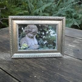 Zilverlook fotolijstje € 3,50